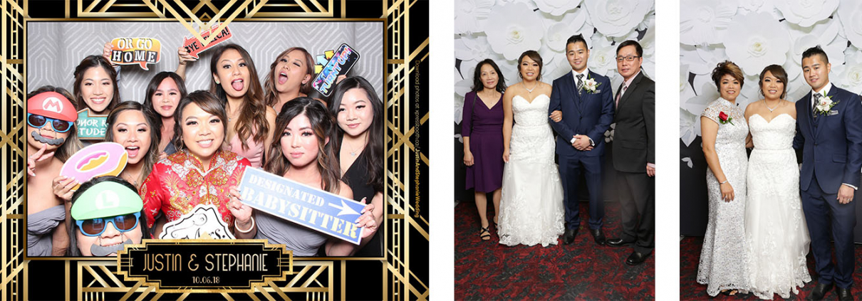 Justin and Stephanie Wedding Photo Booth and Portrait Photos at the Regency Palace in Calgary