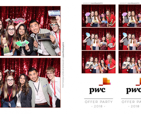PwC Offer Party Corporate Photo Booth at the Calgary Tower Sky 360 Restaurant