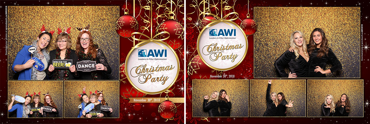 AWI Christmas Party Photo Booth at Saltlik Steakhouse Calgary