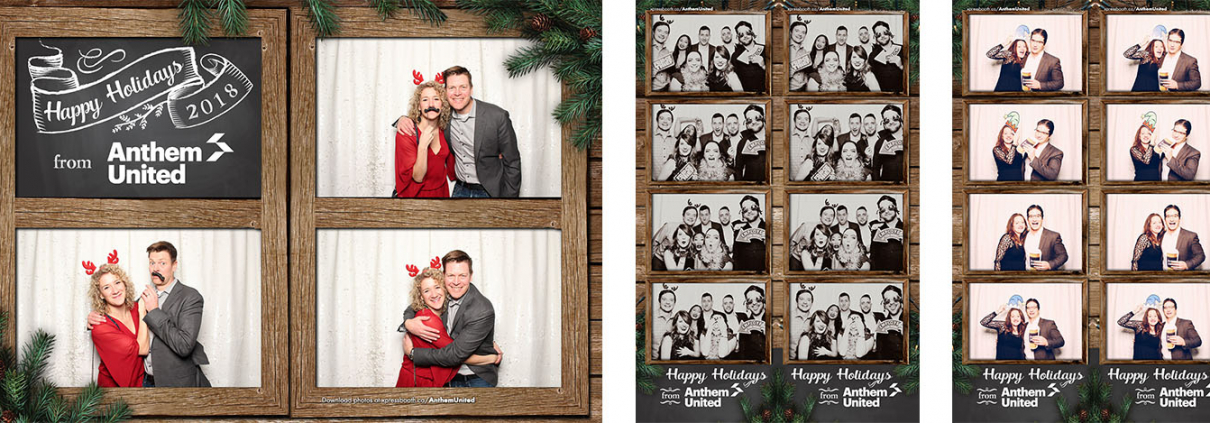Anthem United Holiday Christmas Party Photo Booth at Rodneys Oyster House
