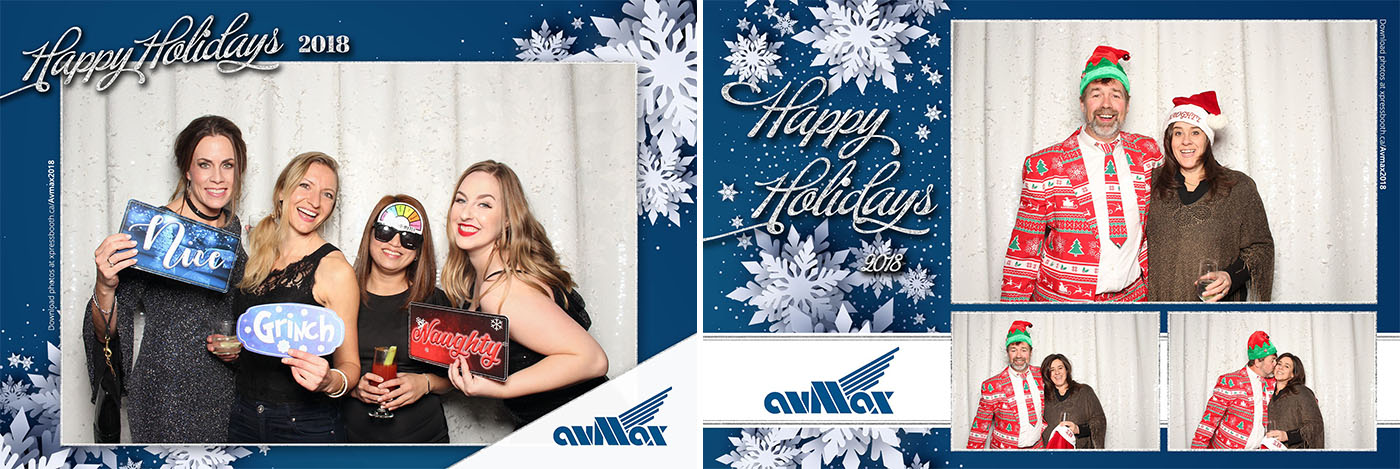 Avmax Christmas Party Photo Booth at the Skyline Simply Elegant