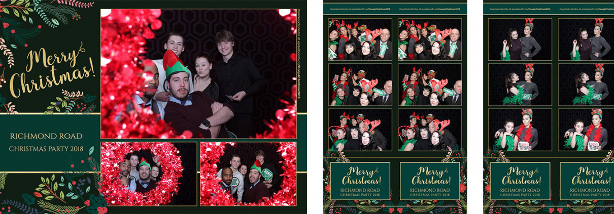 Coop Richmond Road Christmas Party Photo Booth at the Elbow Springs Golf Club