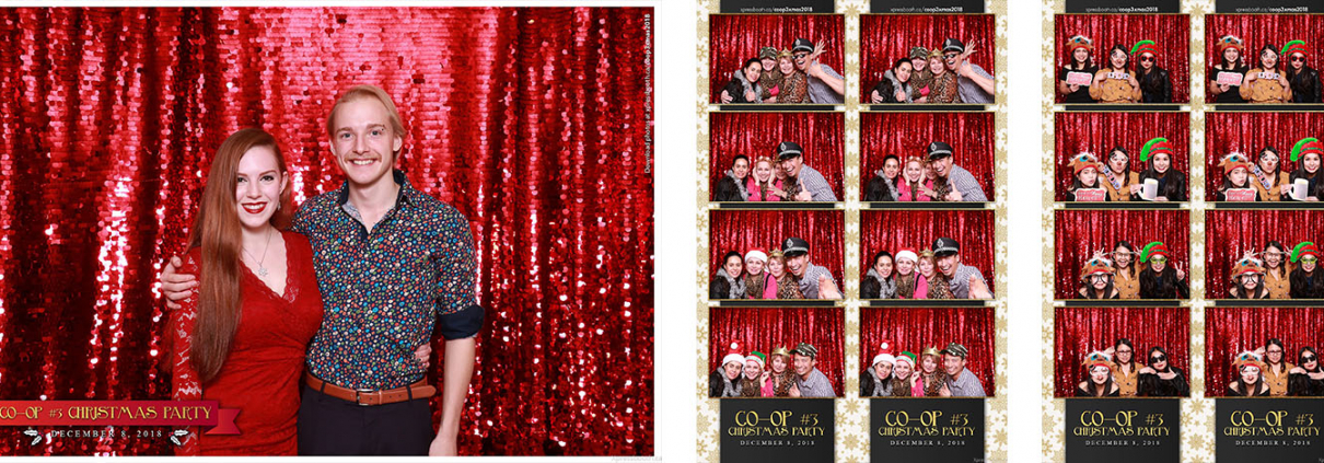 Coop3 Christmas Party Photo Booth at the Royal Canadian Legion Centennial Calgary Branch 285