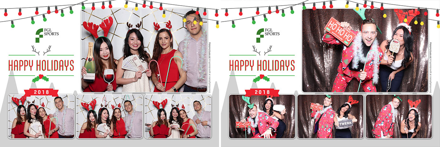 FGL Holiday Party Photo Booth at the BMO Centre Stampede Park Calgary