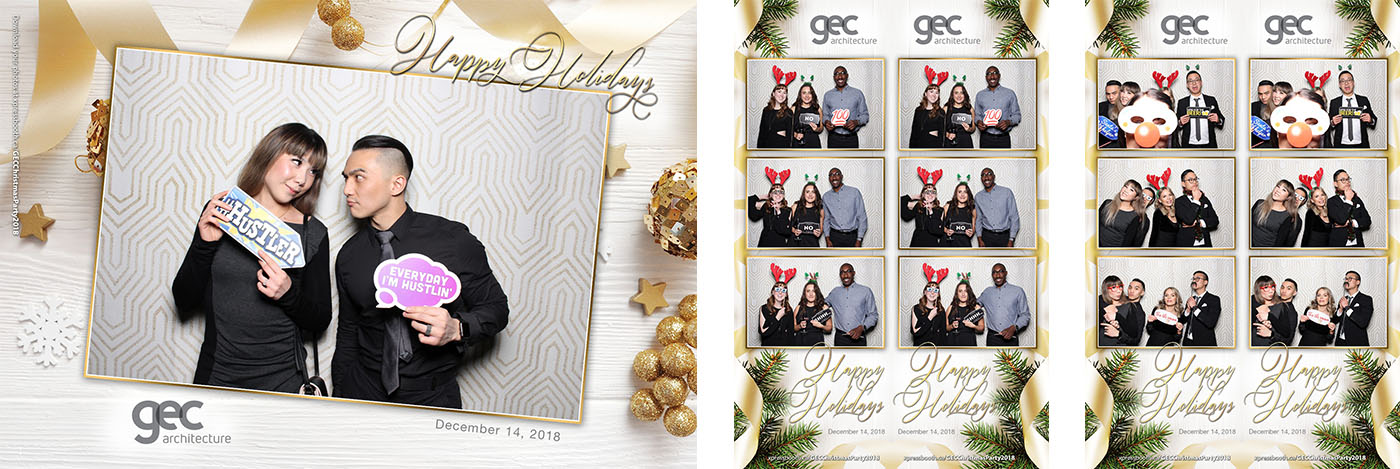 GEC Architecture Holiday Party Photo Booth at the Workshop Kitchen and Culture Theatre Junction Grand