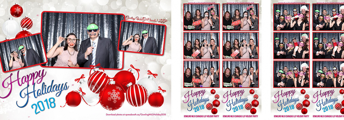 Gowling WLG Canada Corporate Christmas Party Photo Booth at the Fairmont Palliser