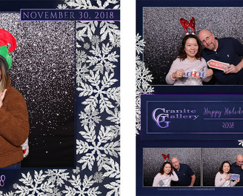 Granite Gallery Company Holiday Party Photo Booth at the Central Grand Restaurant in Calgary