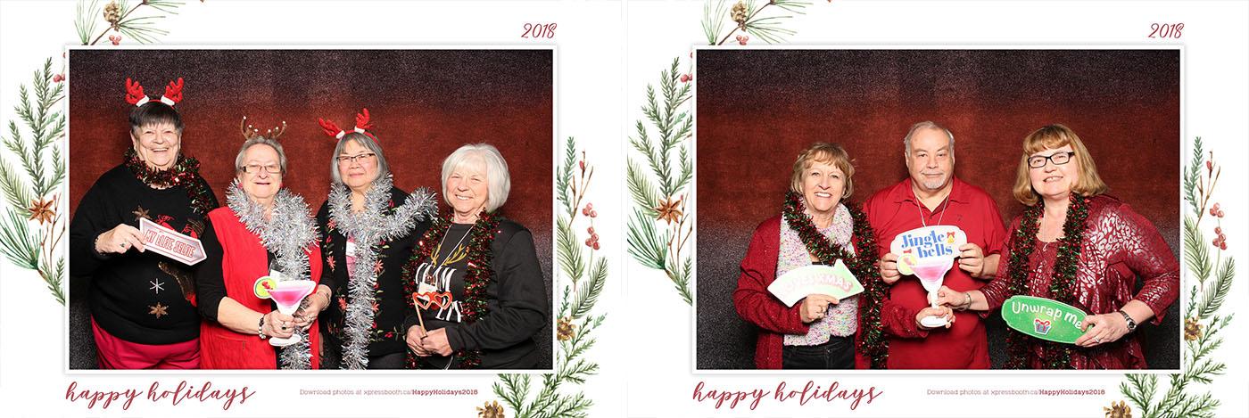 Happy Holidays Seniors Christmas Luncheon Photo Booth at the Royal Canadian Legion Centennial Calgary Branch 285