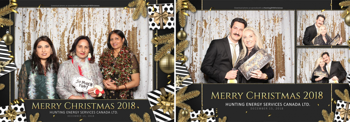 Hunting Energy Christmas Party Photo Booth at the Courtyard by Marriott Calgary Airport