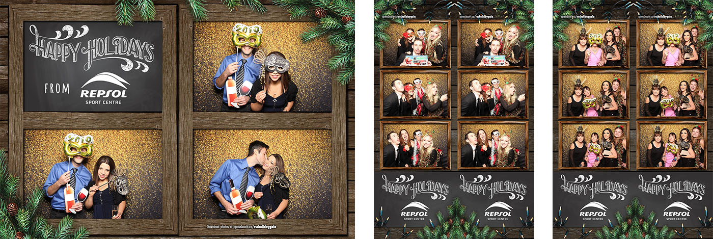 Repsol Sport Holiday Party Photo Booth at the Double Zero Pizza Calgary