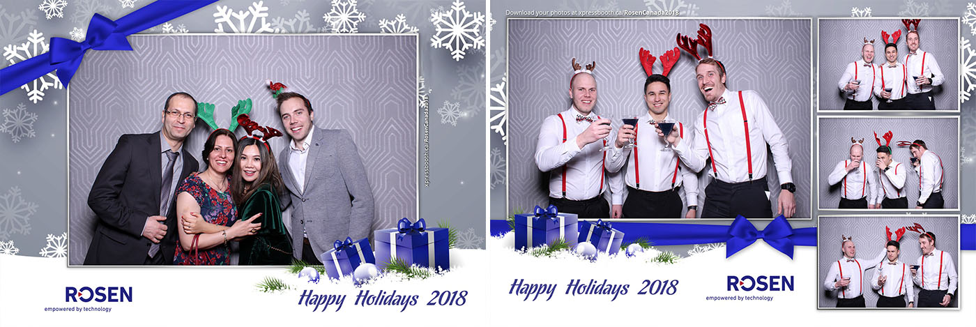 Rosen Christmas Party Photo Booth at the Sheraton Suites Calgary Eau Claire