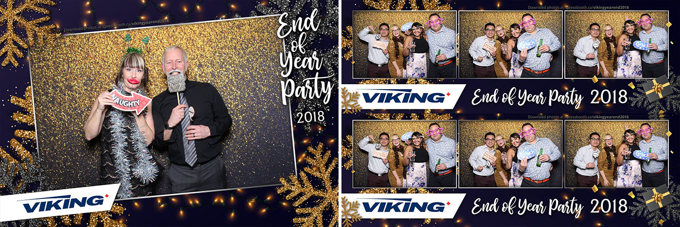Viking Air Year End Christmas Party Photo Booth at the Metropolitan Conference Centre in Calgary
