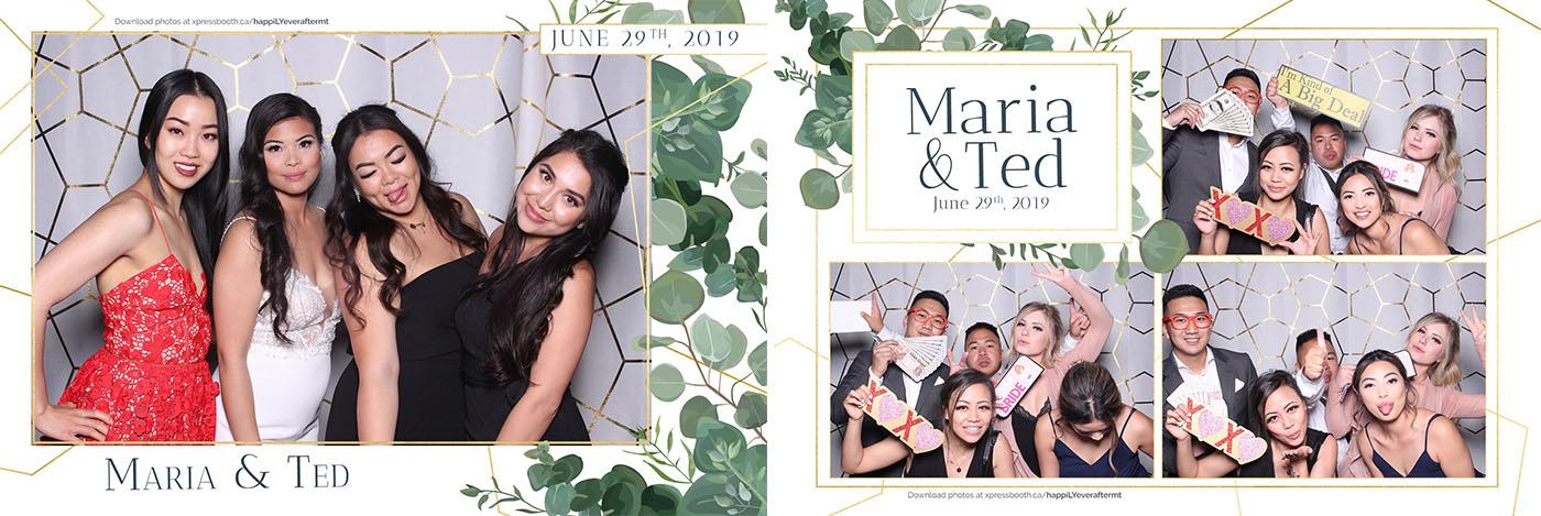 Maria and Ted Wedding Photo Booth at the Saskatoon Farm in Calgary