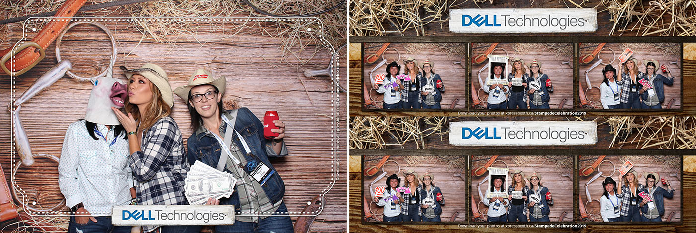 Calgary Stampede Party Photo Booth at the Cowboys Tent