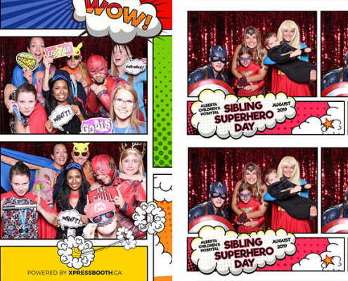Alberta Childrens Hospital Calgary Photo Booth Kids Sibling Superhero Day