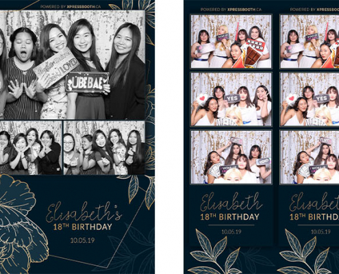 Elizabeth 18th Birthday Debut Photo Booth at Marlborough Park Community Hall