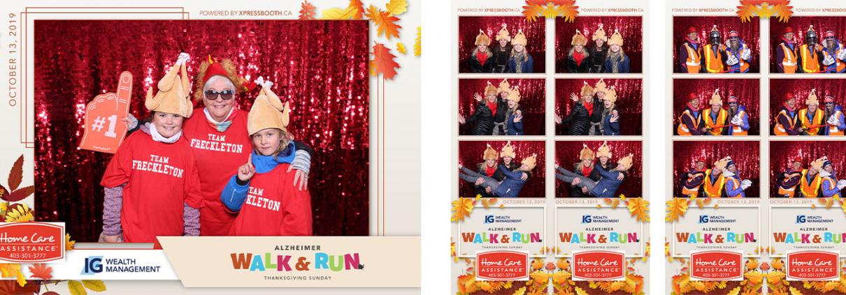 IG Wealth Management Alzheimer Walk and Run non profit Photo Booth