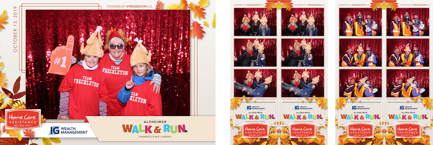 IG Wealth Management Alzheimer Walk and Run non profit Photo Booth