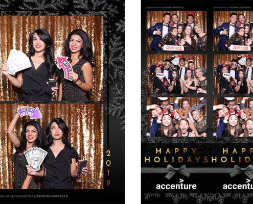 Accenture Holiday Party Photo Booth at Muriettas Bar and Grill Calgary